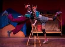 Marc Johnson and Brooke Emmerich in Pinocchio. Photo by Matthew Holler
